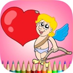 The Valentines Coloring Book: Learn to color and draw Valentine's Day card, Free games for children