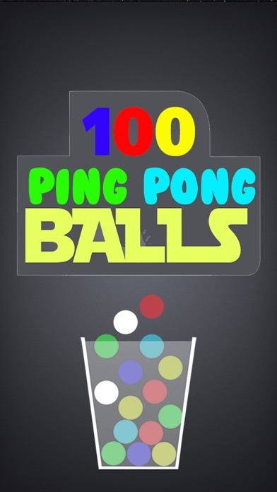 100 Ping Pong Balls-Fall Catch