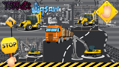 Truck For little kid : Monster Jigsaw Puzzle Games