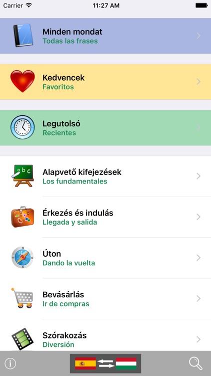 Magyar / Spanyol kifejezéstár - Spanish / Hungarian phrasebook - Multiphrasebook screenshot-0