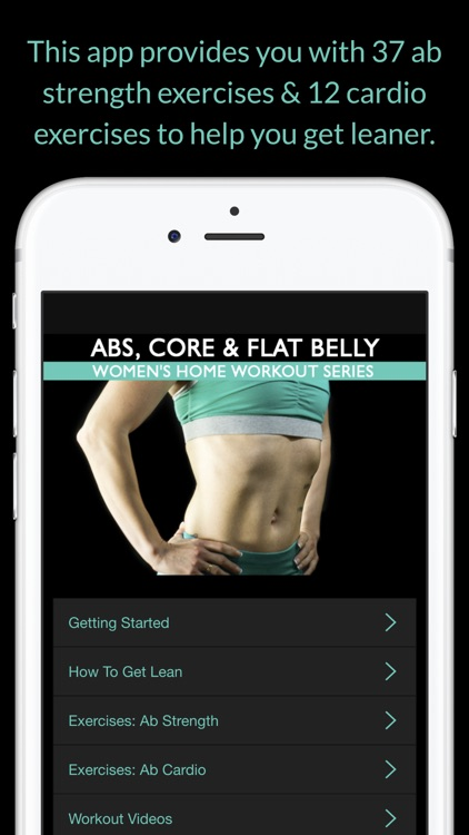 Abs, Core & Flat Belly: Women's Home Workout Series