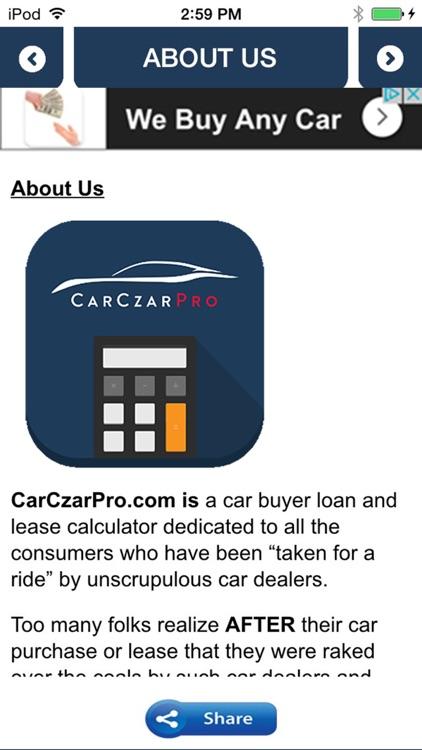 Car Czar Pro Car Loan & Lease Calculator screenshot-3
