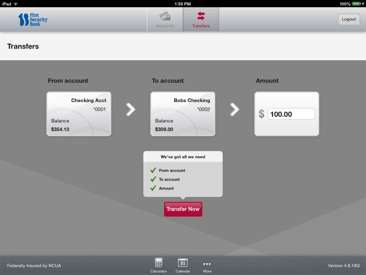 First Security Bank of Byron for iPad screenshot-3