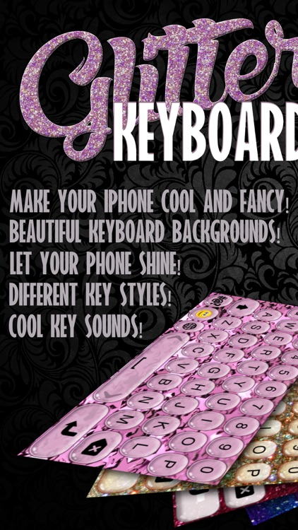Glitter Keyboard Skins – Customize Keyboards with Glowing Backgrounds, New Emoji.s and Fonts screenshot-0