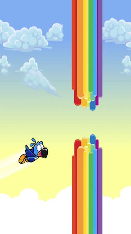 Pipe Fly - Tiny Bird Flaps his Wings over the Rainbow Towers