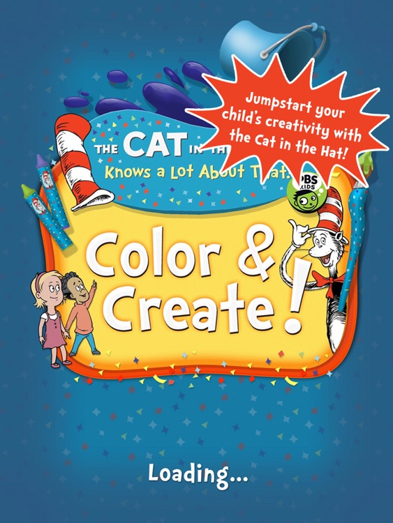 Dr. Seuss's The Cat in the Hat Color & Create! screenshot-0