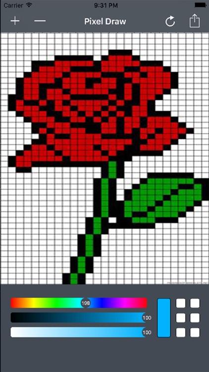 Pixel Drawing Tool - Bit Editor To Make Pixel Arts