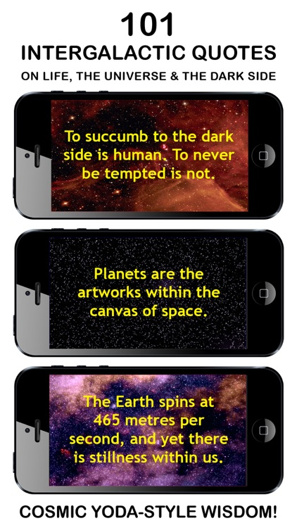 INTERGALACTIC WISDOM: Best App Of Daily Yoda-Style Quotes, Phrases & Cosmic Sayings About Space, The Stars, The Universe & The Dark Side