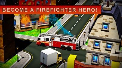 119 消防卡車模擬器 3D - 消防員值班屏幕截圖1
