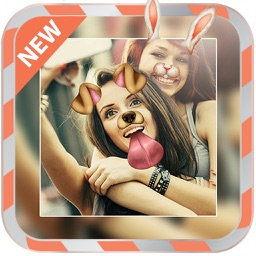 Snap Dog Face Filter Stickers