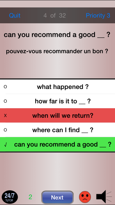 French Phrases 24/7 Language Learning screenshot four
