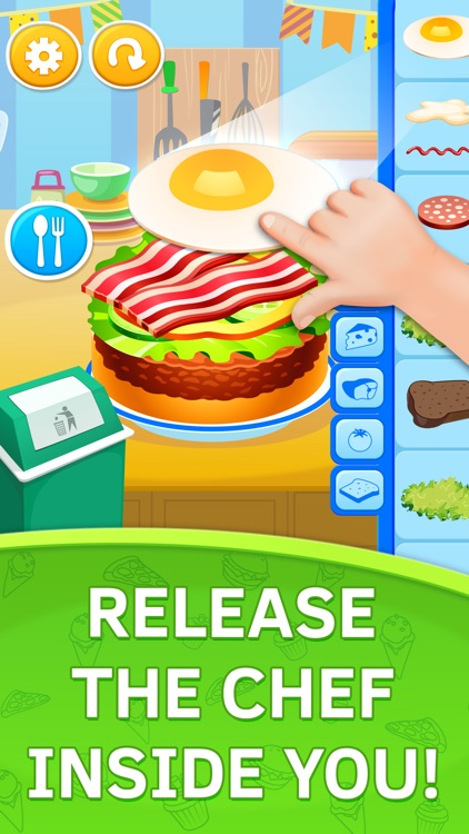 Cake Cooking Games for Toddlers and Kids free screenshot-3