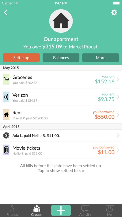 Splitwise - Split bills and expenses the easy way
