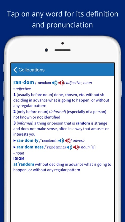 Oxford Collocations Dictionary for Students of English screenshot-4