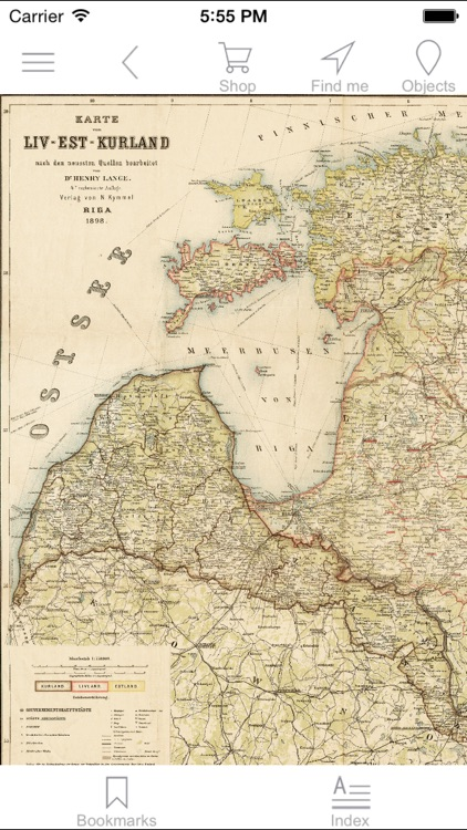 Baltic states (1898). Historical map.