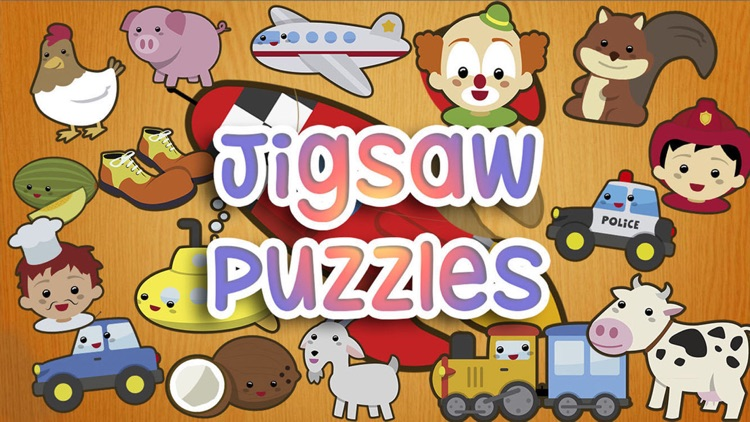 Jigsaw wooden puzzles for kids - Educational game