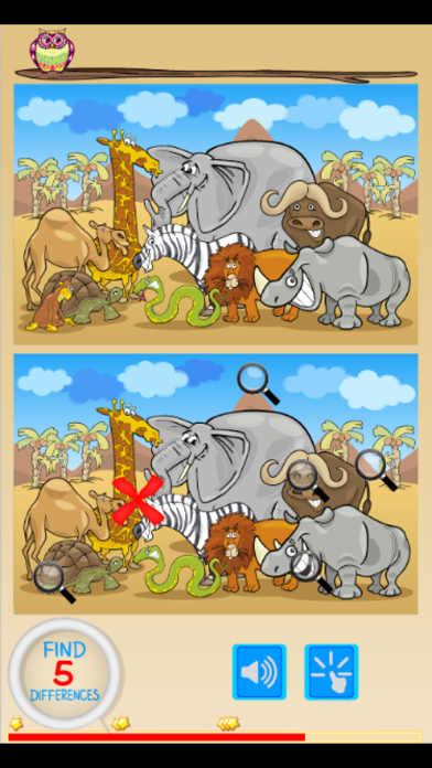 Find 10 differences of animal screenshot two