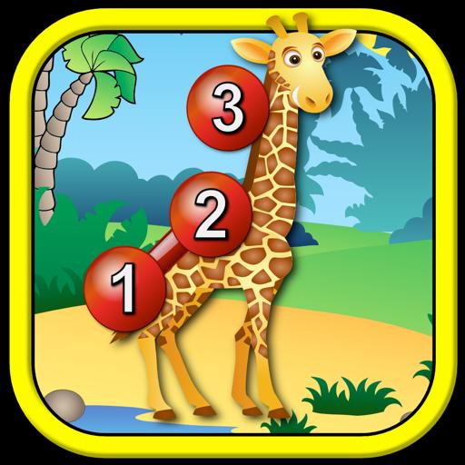 Дети животных подключить точками головоломки - образовательные игры для детей дошкольного возраста счету точка в точку