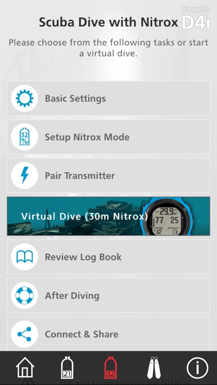 Suunto Dive Learning Tools – Teach yourself how to set up and use the Suunto D4i Novo, Vyper Novo and Zoop Novo.