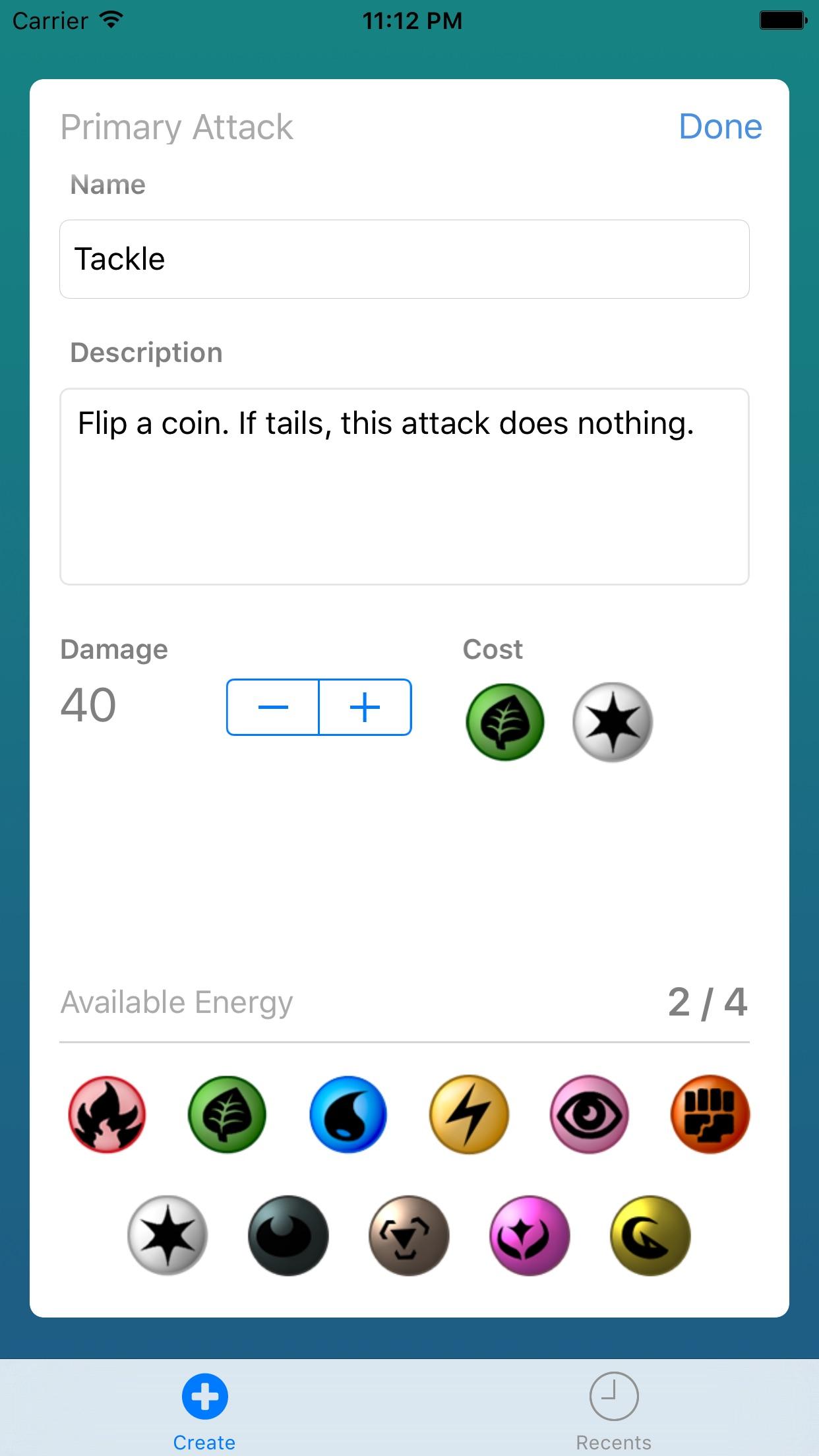 Card Builder for Pokemon Screenshot