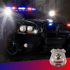 Activities of Police Siren Sound ~ The best emergency radio car sounds with reb/blue strobe (FREE)