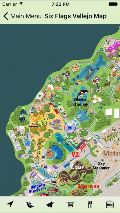 Six Flags Vallejo Map