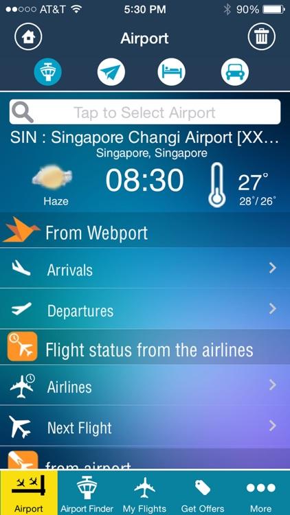 Singapore Changi Airport (SIN) Flight Tracker