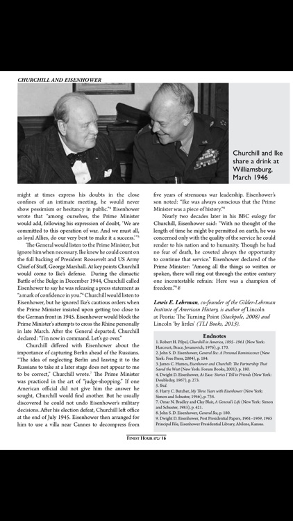 Finest Hour Magazine screenshot-3