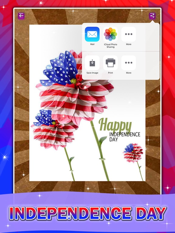 Happy 4th July Happy Independence Day America Greeting Cards App