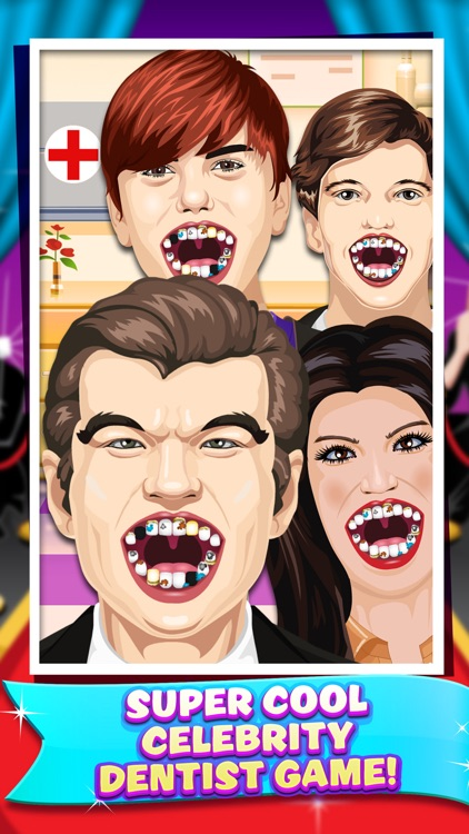 Celebrity Dentist Doctor Salon Kids Game Free screenshot-3