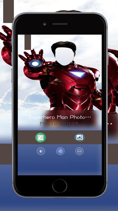 Superhero Man Photo Suit,Face Changer screenshot one