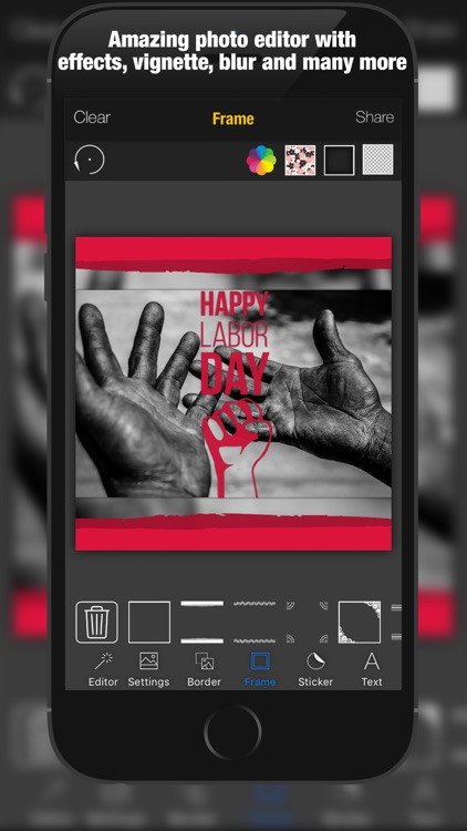 1st May Cam Labor & Workers Day Photo Editor – Add MayDay greetings text and sticker over picture screenshot-3