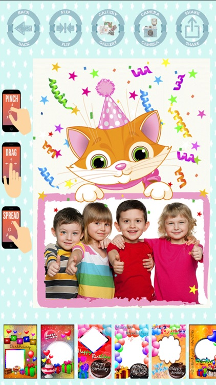 Happy birthday frames to create cards with photos screenshot-4