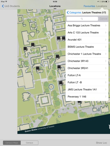 University of Sussex – SussexMobile Application-ipad-2