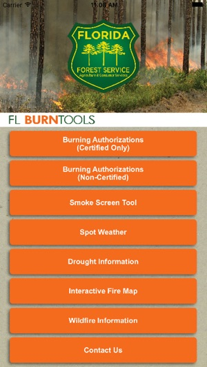 Florida Forest Fire Map.Flburntools On The App Store