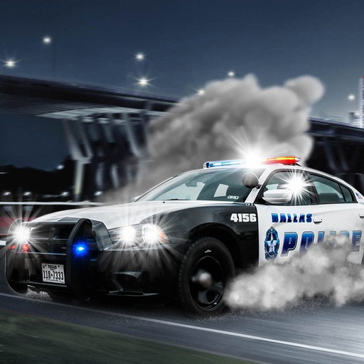 A Driving Fast Police - Racing Hovercar Game