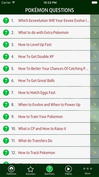 Guide for Pokémon GO Game screenshot-3