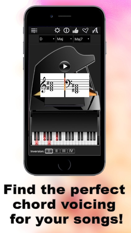 Piano Chords Compass - learn the chord notes & play them screenshot-4