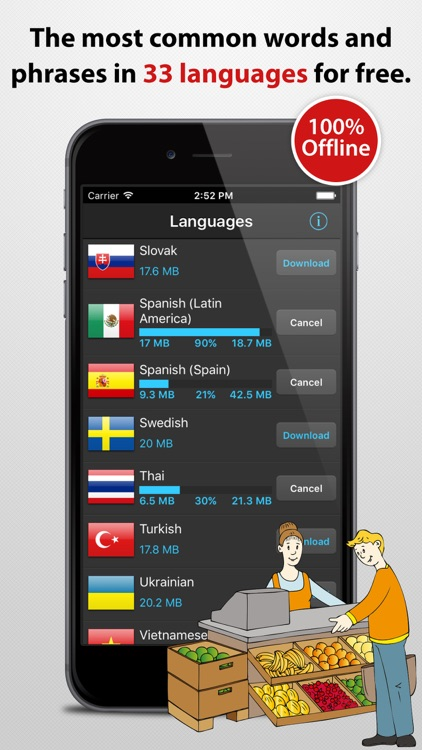Phrasebook - over 30 languages