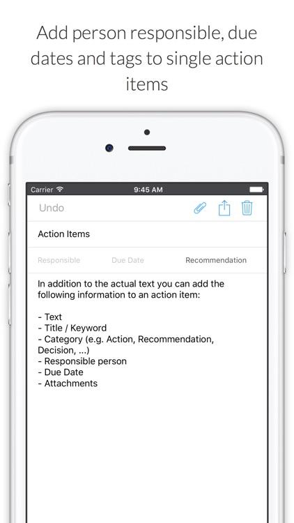 MinuteTaker - Meeting Minutes creation and sharing screenshot-3