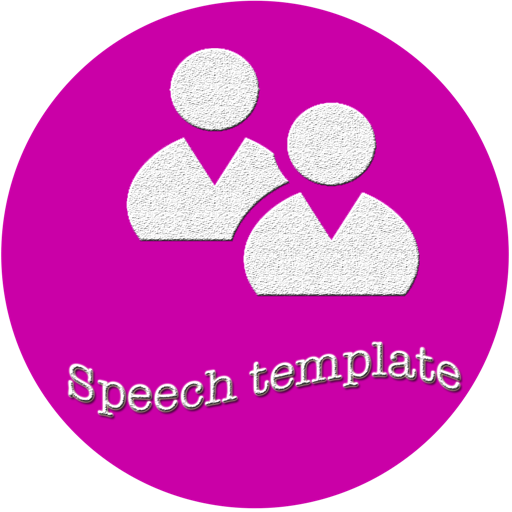 Speech template for Keynote