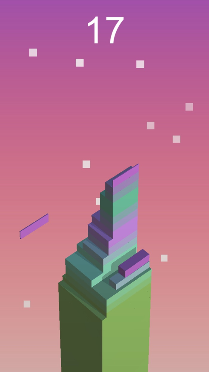 Block Tower Stack-Up - Reach up high in the sky, play this endless blocks stacking game Screenshot