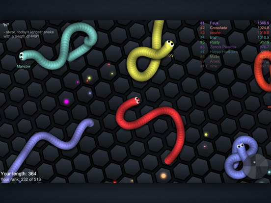 Screenshots of slither.io for iPad