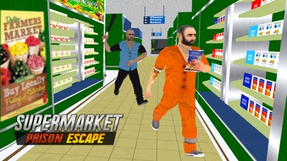 Super-Market Prison Escape 3D: Police Chase & Truck Driving Game screenshot one