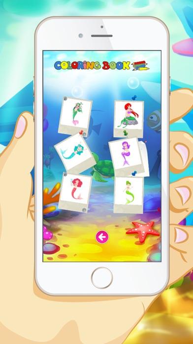 マーメイドぬりえ - 子供と幼児のための教育のぬりえゲームのスクリーンショット5