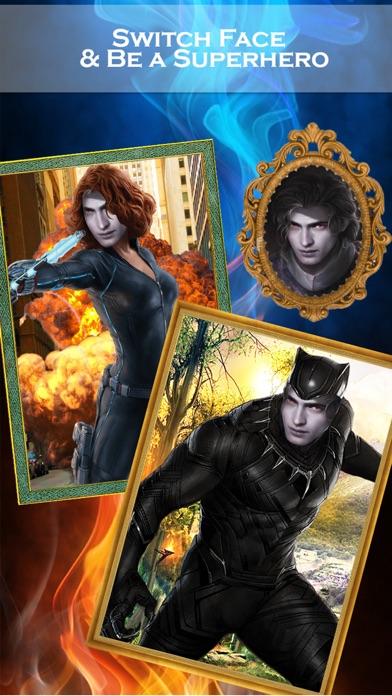 スーパーヒーローの顔チェンジャー2 - スーパーヒーローSuiteとのフェイススワップアプリ&面白い写真編集のスクリーンショット1
