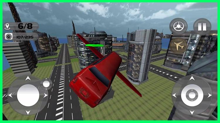 Floating Limo Flying Car Simulator - Futuristic Driving Stunts - Airplane Flight Pilot screenshot-4