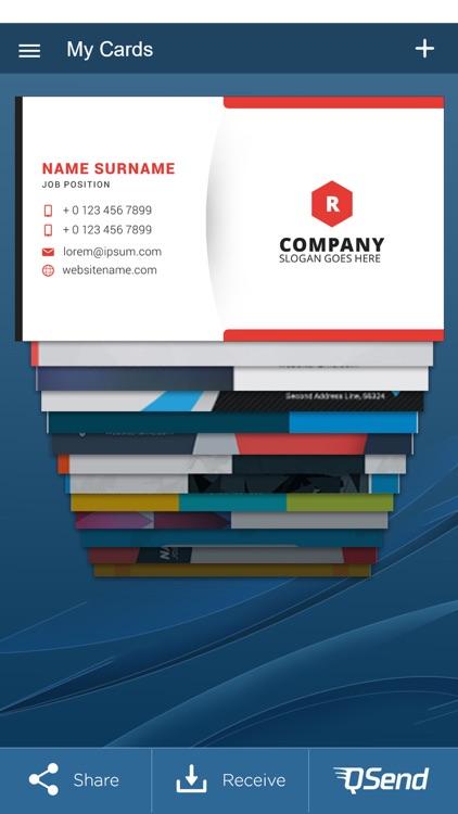 QuickBC: Business Card Maker screenshot-3