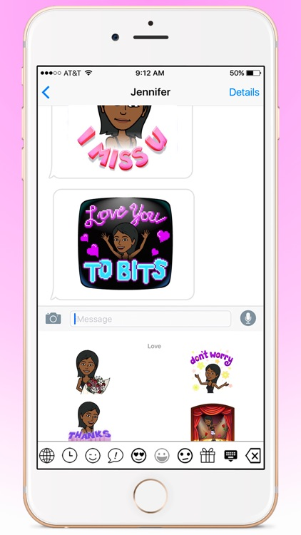 BlackEmoji - Emoji keyboard for cute Black girls screenshot-3