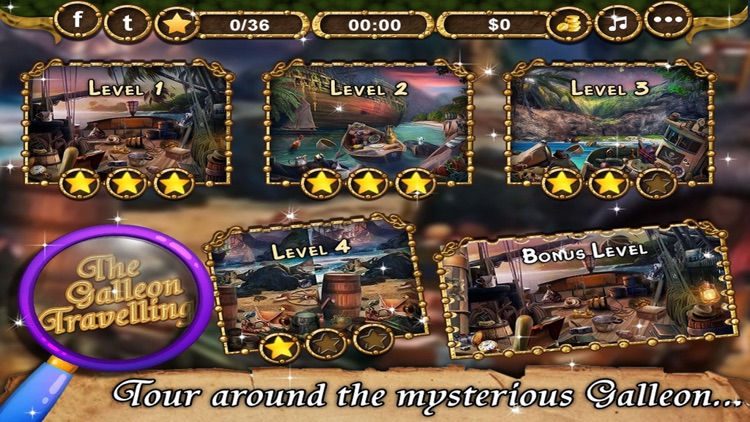 The Galleon Travelling - Hidden Objects game for kids and adults